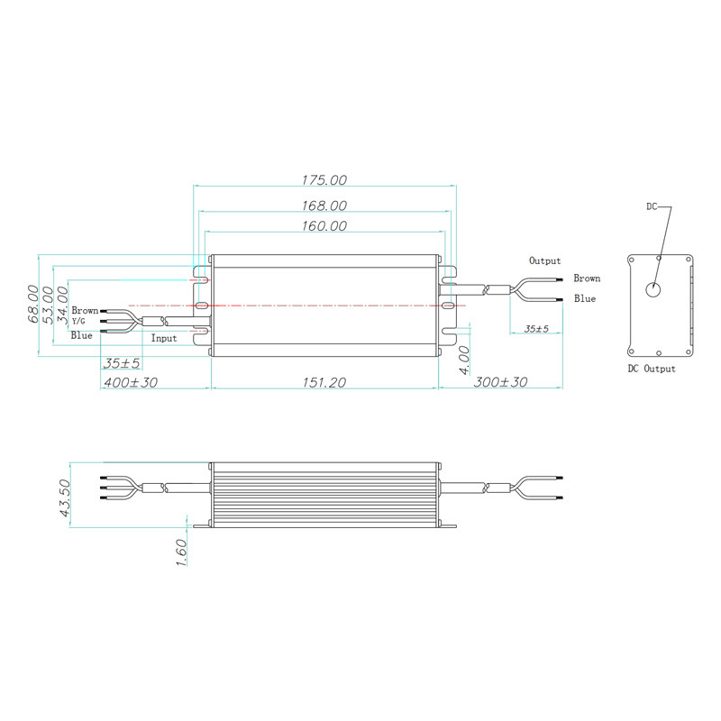 150W Non-isolated LED driver